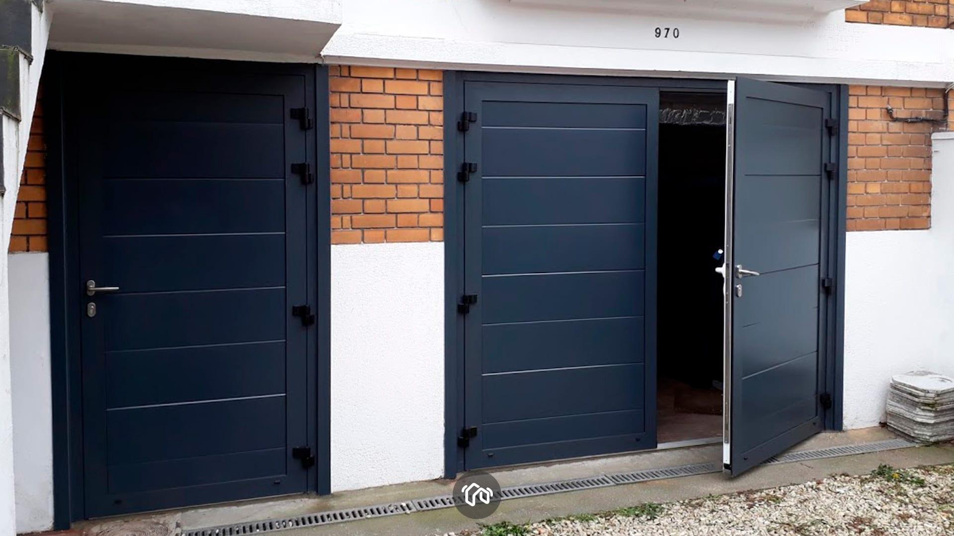 porte-garage-bleue